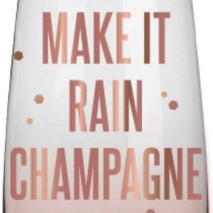 """Express Dining - Rose Gold Stemless """"Make it Rain Champagne"""" Flute"""